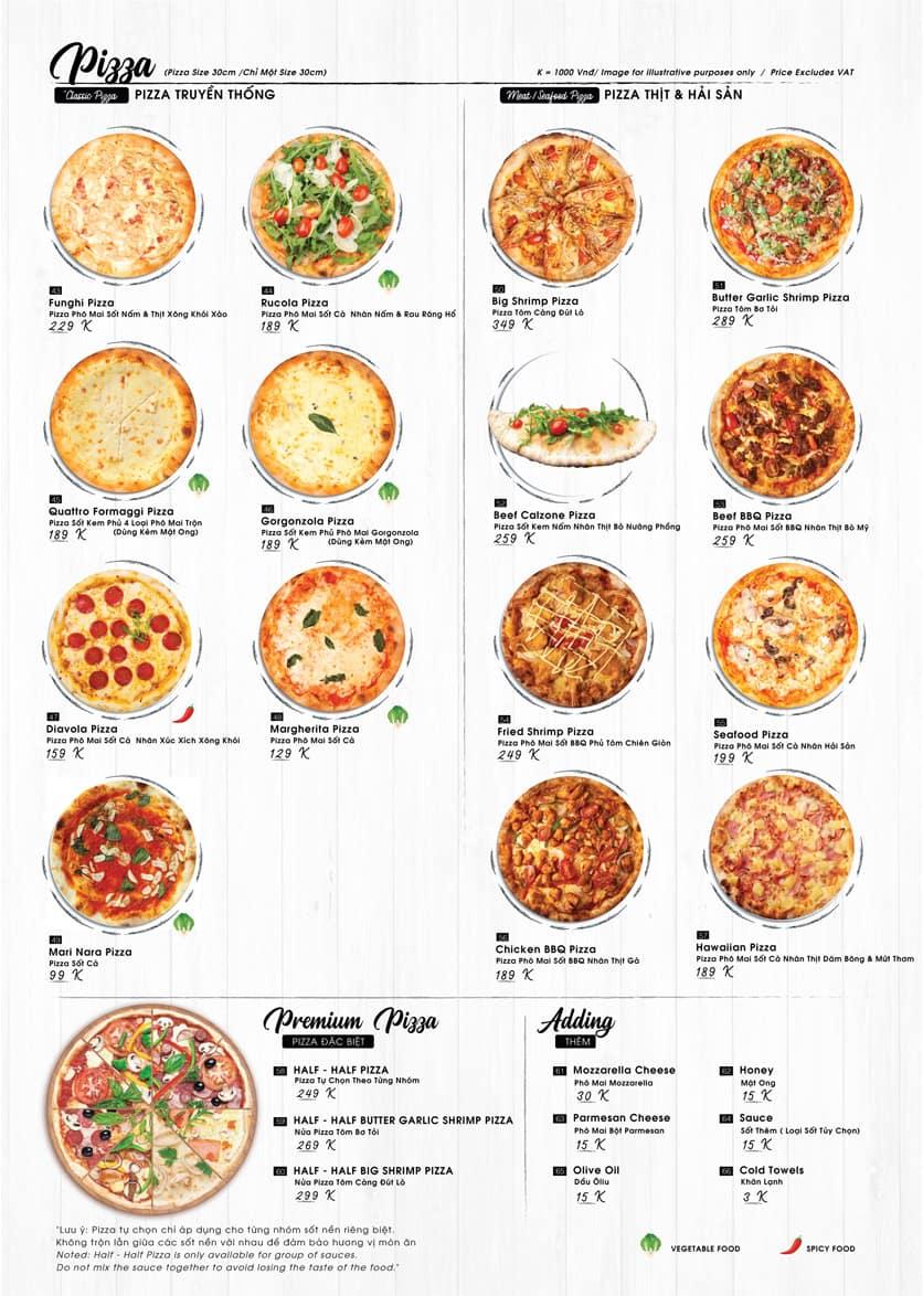 Thiết kế thực đơn, menu chuyên nghiệp tại Nowads